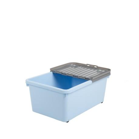 Pojemnik na zabawki, uchylna pokrywa na kółkach 45 L