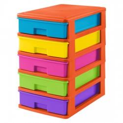 Szafka 5 małych szuflad kolorowa