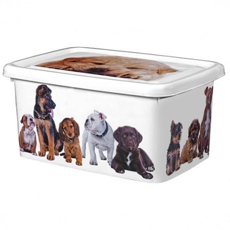 Pojemnik pudełko białe - psy 26L