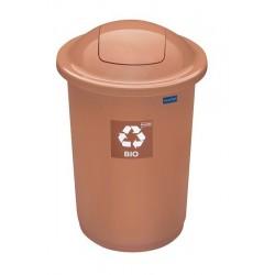 Kosz do segregacji odpadów TOP BIN 50L brązowy
