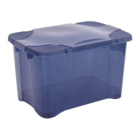 Pudełko Clip Box na kółkach 40L niebieski