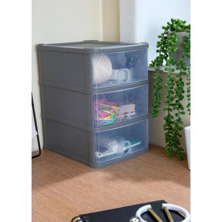 organizer na biurko 3 szuflady mieszczaca A5