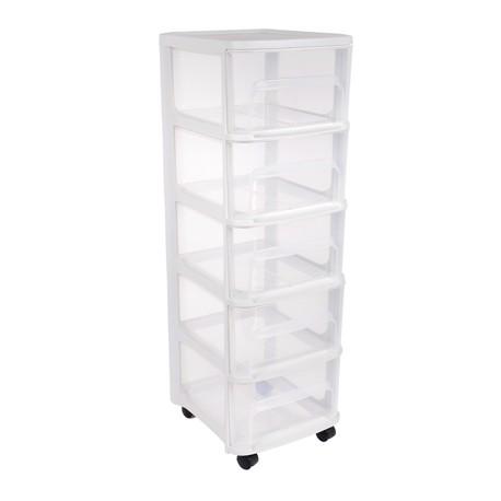 Szafka na kółkach 5 szuflady duże naturalne