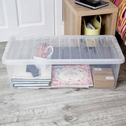Pojemnik do przechowywania pod łóżkiem na szafę z pokrywą 42 L