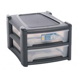 Plastikowy organizer na dokumenty 2 szuflady