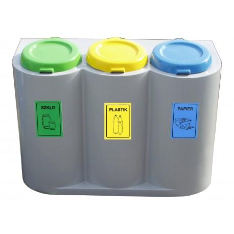 Ekoszafka do segregacji odpadów o pojemności 360 litów