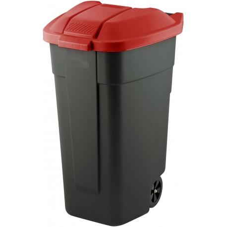 Pojemnik na szkło, papier, plastik o pojemności 110 litrów